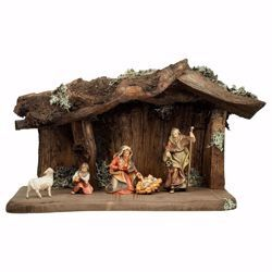 Picture of Ulrich Nativity Set 7 Pieces cm 8 (3,1 inch) hand painted Val Gardena wooden Statues
