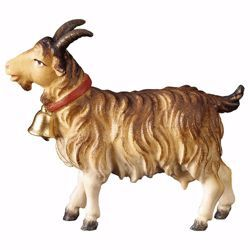 Picture of Goat with bell cm 10 (3,9 inch) hand painted Ulrich Nativity Scene Val Gardena wooden Statue baroque style