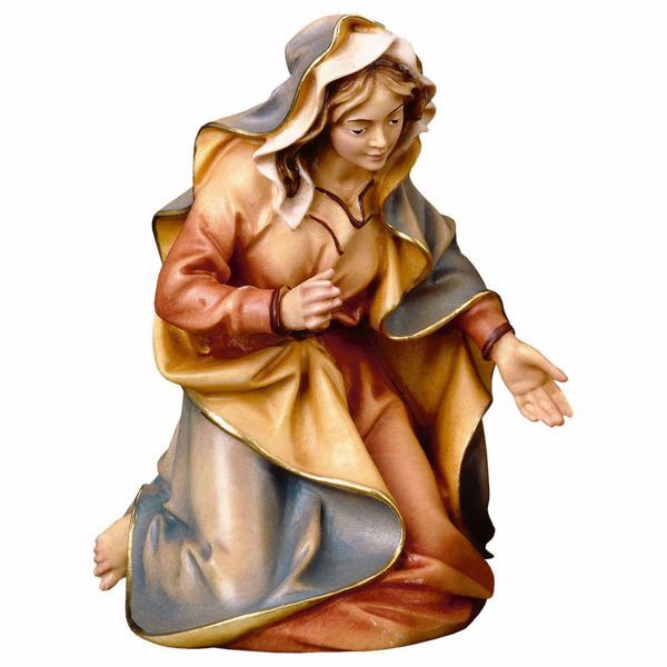 Picture of Mary / Madonna cm 12 (4,7 inch) hand painted Ulrich Nativity Scene Val Gardena wooden Statue baroque style