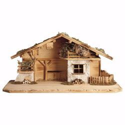 Picture of Edelweiss Stable cm 12 (4,7 inch) for Ulrich Nativity Scene in Val Gardena wood