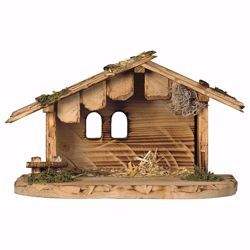 Picture of Dolomiti Stable cm 12 (4,7 inch) for Ulrich Nativity Scene in Val Gardena wood