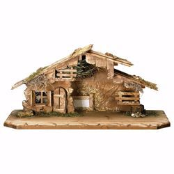 Picture of South Tyrol stable cm 15 (5,9 inch) for Ulrich Nativity Scene in Val Gardena wood