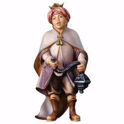 Immagine di Piccolo Cantore con incenso cm 15 (5,9 inch) Presepe Ulrich dipinto a mano Statua artigianale in legno Val Gardena stile barocco