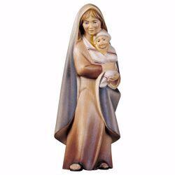 Immagine di Contadina con neonato cm 10 (3,9 inch) Presepe Cometa dipinto a mano Statua artigianale in legno Val Gardena stile Arabo tradizionale