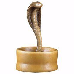Imagen de Serpiente en la cesta cm 10 (3,9 inch) Belén Cometa pintado a mano Estatua artesanal de madera Val Gardena estilo Árabe tradicional