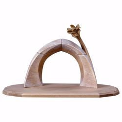 Picture of Arc Family Stable cm 12 (4,7 inch) for Comet Nativity Scene in Val Gardena wood