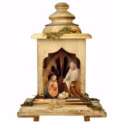 Picture of Comet Nativity Set 5 Pieces cm 12 (4,7 inch) hand painted Val Gardena wooden Statues