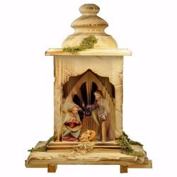 Picture of Saviour Nativity Set 5 Pieces cm 12 (4,7 inch) hand painted Val Gardena wooden Statues