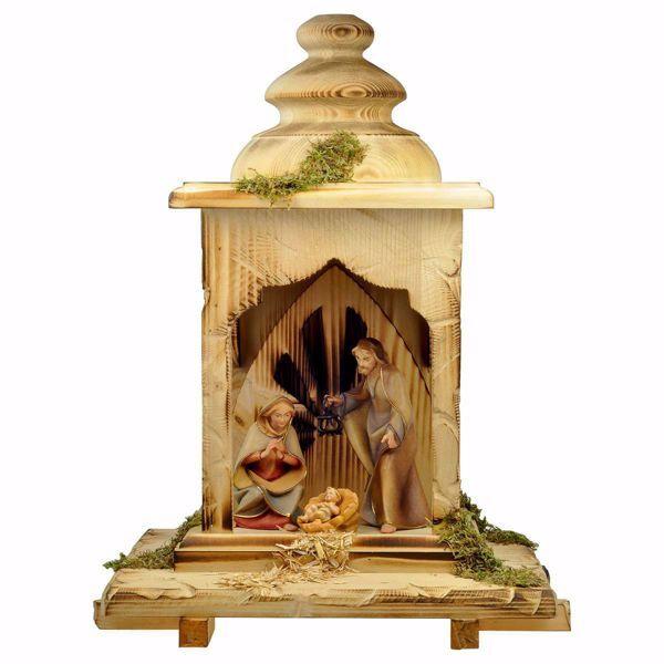 Imagen de Pesebre Redentor Set 5 Piezas cm 12 (4,7 inch) pintado a mano Estatuas artesanales de madera Val Gardena