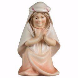 Immagine di Bambina che prega inginocchiata cm 25 (9,8 inch) Presepe Cometa dipinto a mano Statua artigianale in legno Val Gardena stile Arabo tradizionale