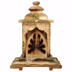 Picture of Lantern Stable with light cm 12 (4,7 inch) for Comet Nativity Scene in Val Gardena wood