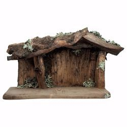 Picture of Root Stable cm 12 (4,7 inch) for Saviour Nativity Scene in Val Gardena wood