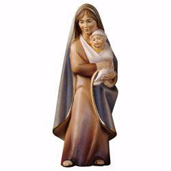 Immagine di Madonna con Bambino Oriente cm 10 (3,9 inch) Statua in stile moderno dipinta ad olio in legno Val Gardena