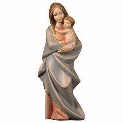 Immagine di Madonna con Bambino cm 16 (6,3 inch) Statua in stile moderno dipinta ad olio in legno Val Gardena