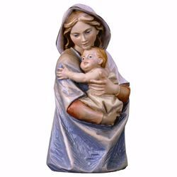 Picture of Bust of Our Lady Madonna cm 16 (6,3 inch) wooden table Statue oil colours Val Gardena