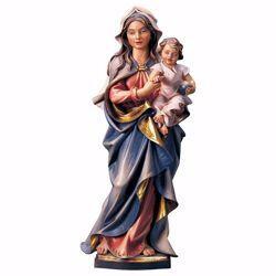 Immagine di Madonna Accompagnatrice con Bambino cm 20 (7,9 inch) Statua dipinta ad olio in legno Val Gardena
