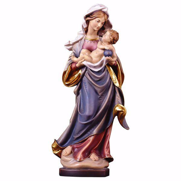 Immagine di Madonna con Bambino di Mauch cm 40 (15,7 inch) Statua Gotica dipinta ad olio in legno Val Gardena