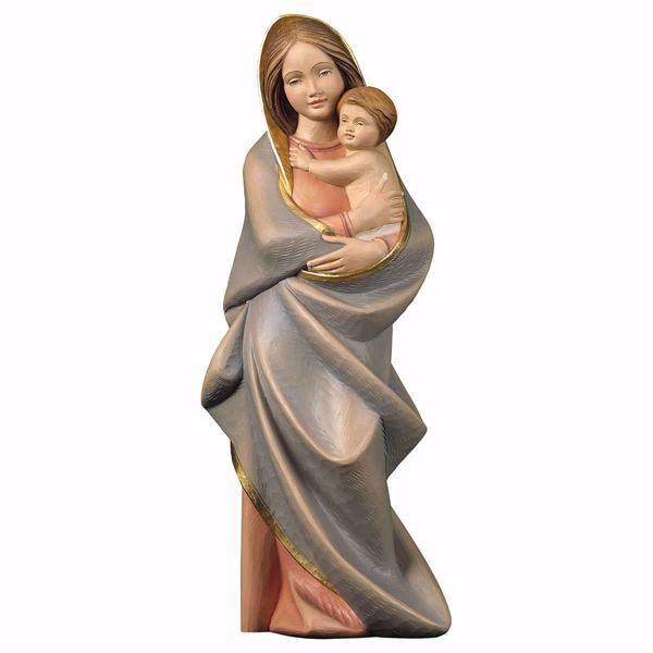 Imagen de Madonna con Niño cm 62 (24,4 inch) Estatua pintada al óleo madera Val Gardena