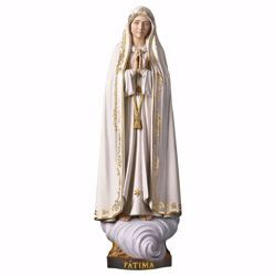 Picture of Our Lady Madonna of Fatima Capelinha cm 12 (4,7 inch) wooden Statue oil colours Val Gardena