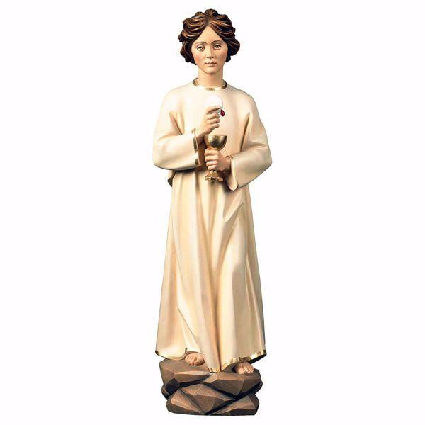 Imagen de Ángel de la Paz de Portugal Fátima cm 30 (11,8 inch) Estatua pintada al óleo madera Val Gardena