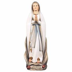 Immagine di Madonna Nostra Signora di Lourdes Stilizzata cm 70 (27,6 inch) Statua dipinta ad olio in legno Val Gardena