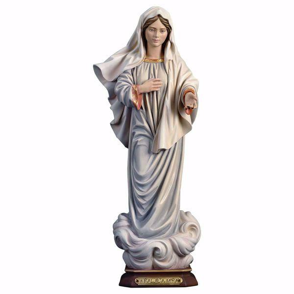 Imagen de Kraljice Mira Nuestra Señora de Medjugorje Reina de la Paz cm 23 (9,1 inch) Estatua pintada al óleo madera Val Gardena