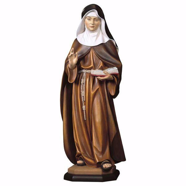 Immagine di Statua Monaca Clarissa cm 100 (39,4 inch) dipinta ad olio in legno Val Gardena