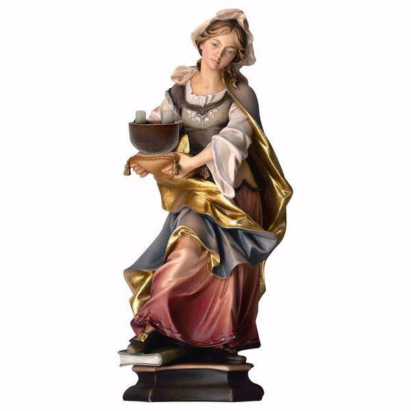 Imagen de Estatua Santa Cristina Mártir cm 20 (7,9 inch) pintada al óleo en madera Val Gardena