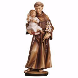 Picture of Saint Anthony of Padua wooden Statue cm 23 (9,1 inch) painted with oil colours Val Gardena