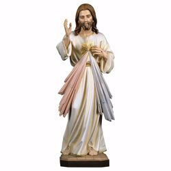 Picture of Merciful Jesus Christ cm 12 (4,7 inch) wooden Statue painted with oil colours Val Gardena