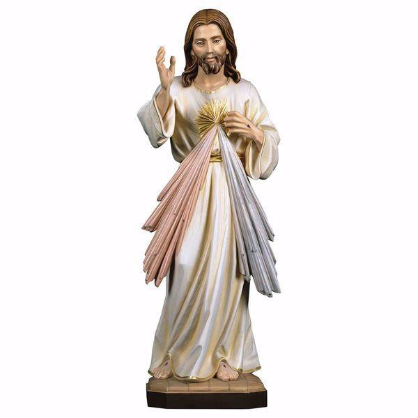 Immagine di Gesù Cristo Misericordioso cm 140 (55,1 inch) Statua dipinta ad olio in legno Val Gardena