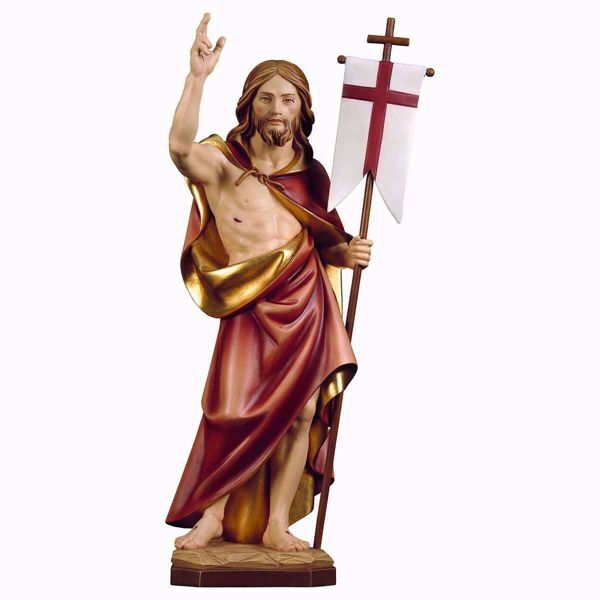 Picture of Resurrection of Jesus Christ cm 70 (27,6 inch) wooden Statue painted with oil colours Val Gardena