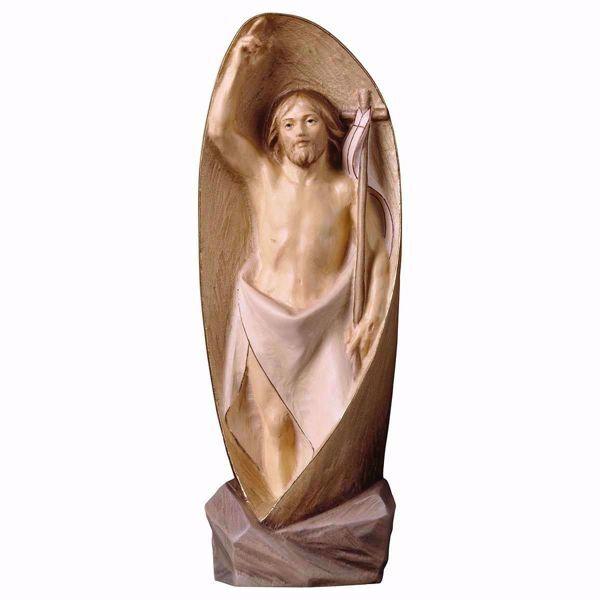 Immagine di Risurrezione di Gesù Cristo Moderna cm 30 (11,8 inch) Statua dipinta ad olio in legno Val Gardena