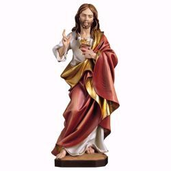 Picture of Sacred Heart of Jesus cm 60 (23,6 inch) wooden Statue painted with oil colours Val Gardena