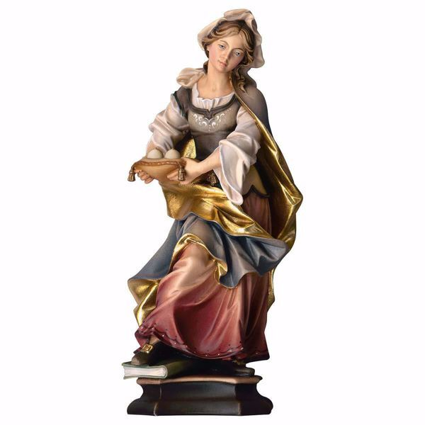 Picture of Saint Agatha of Sicily with breasts wooden Statue cm 30 (11,8 inch) painted with oil colours Val Gardena
