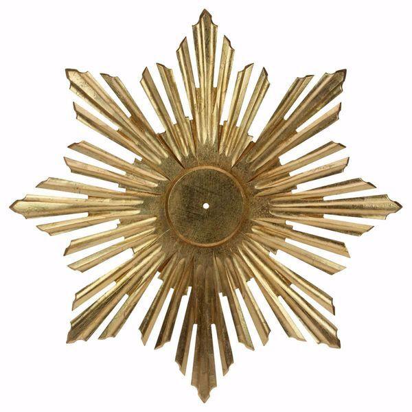 Immagine di Aureola a Raggiera per Colomba dello Spirito Santo cm 18 (7,1 inch) Scultura dipinta ad olio in legno Val Gardena