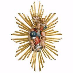 Picture of Glorious Holy Trinity with Aureole cm 40x33 (13,0 inch) wooden Sculpture painted with oil colours Val Gardena