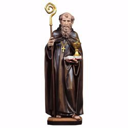 Picture of Saint Benedict of Nursia with chalice and snake wooden Statue cm 35 (13,8 inch) painted with oil colours Val Gardena