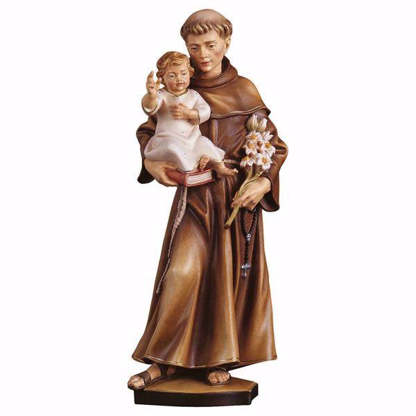 Immagine di Statua Sant' Antonio da Padova cm 45 (17,7 inch) dipinta ad olio in legno Val Gardena