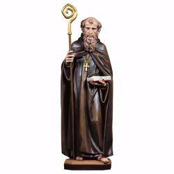 Immagine di Statua San Benedetto da Norcia cm 46 (18,1 inch) dipinta ad olio in legno Val Gardena