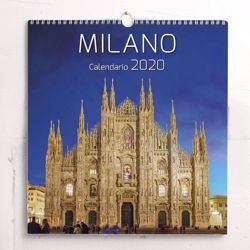 Picture of Mailand Milano bei Nacht Wand-kalender 2020 cm 31x33