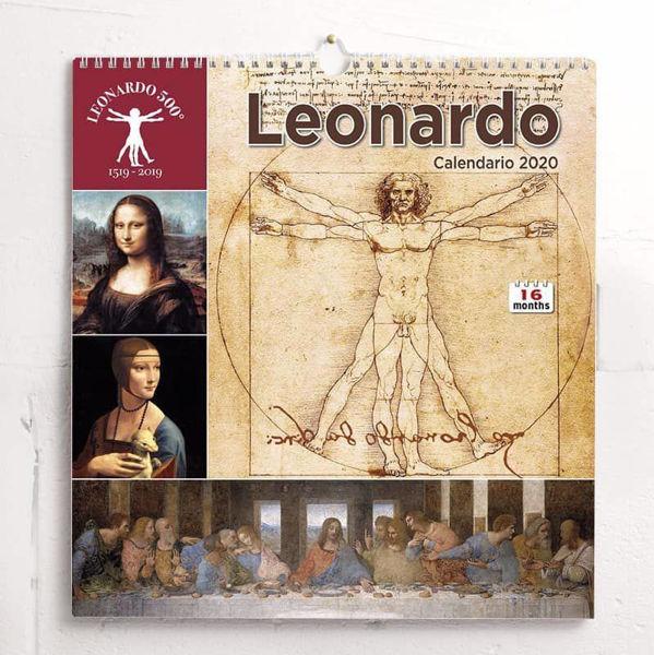 Picture of 2021 wall Calendar Leonardo da Vinci cm 31x33 (12,2x13 in)