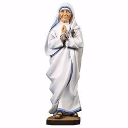 Immagine di Statua Santa Madre Teresa di Calcutta cm 70 (27,6 inch) dipinta ad olio in legno Val Gardena