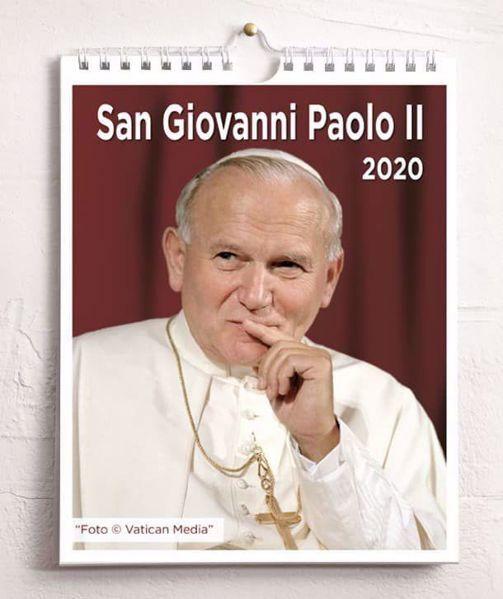 Immagine di St. John Paul II 2020 wall and desk calendar cm 16,5x21 (6,5x8,3 in)