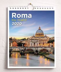 Picture of Calendario da tavolo e da muro 2020 Roma San Pietro by night cm 16,5x21