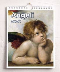 Picture of Angels 2020 wall and desk calendar cm 16,5x21 (6,5x8,3 in)