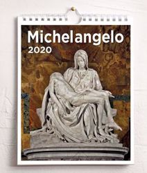 Picture of Michelangelo 2020 wall and desk calendar cm 16,5x21 (6,5x8,3 in)