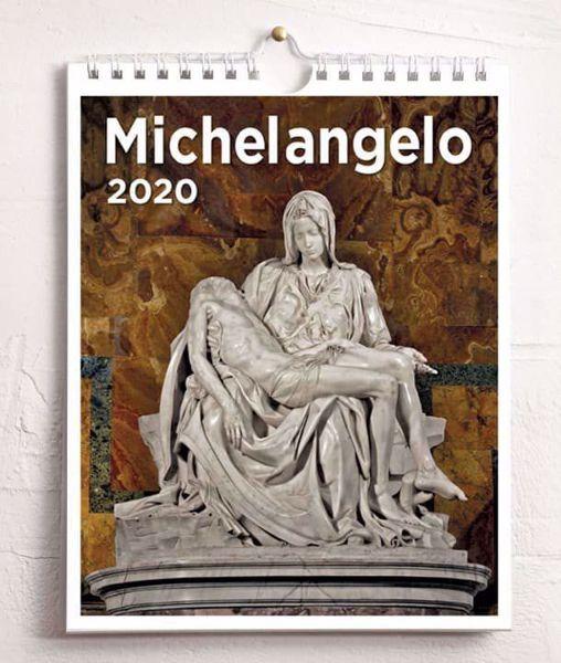 Immagine di Michelangelo 2020 wall and desk calendar cm 16,5x21 (6,5x8,3 in)