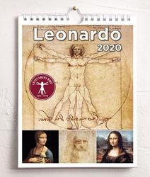 Imagen de Calendario da tavolo e da muro 2020 Leonardo da Vinci cm 16,5x21 + calendario delle celebrazioni per i 500 anni dalla morte