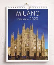 Picture of Milano by night 2020 wall and desk calendar cm 16,5x21 (6,5x8,3 in)